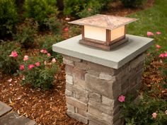 This Brick driveway lamp post great stone pillars with lights entrance photos and collection about Brick driveway lamp post ultramodern. Driveway brick lamp post Ideas images that are related to it Brick Driveway, Driveway Entrance, Driveway Landscaping, House Entrance, Entrance Ideas, Gravel Driveway, Driveway Posts, Landscaping Design, Brick Columns