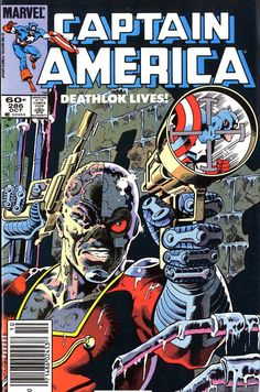Captain America 286. Yet another classic iconic Captain America Marvel comic cover!
