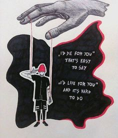 Even harder to say when you know it's not true and harder to write when you know that tonight there are people back home which are talking to you but you ignore them still all these questions there for real like who would you live for? who would you die for? and would you ever kill? Ride -twenty øne piløts tøp Josh dun and Tyler Joseph joshler