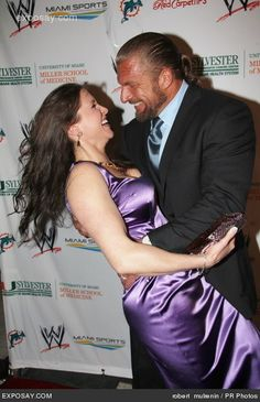 Paul Levesque (Triple H) & his wife Stephanie McMahon - WWE Wrestling