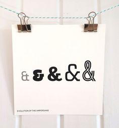 Evolution of the Ampersand Print