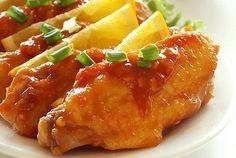 Alitas de pollo en salsa agridulce