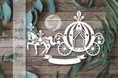 DONT FORGET OUR CURRENT OFFER !!!! Enter the code TOMMYANDTILLY30 in the coupon code box before checkout to receive 30% off when you order any 4 items. *****ITEM DESCRIPTION***** Princess Carriage Design - A perfect design for hand or machine paper cutting! Digitally