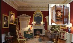 You won't get down that chimney, Santa! The cosiest Christmas Eve scene you will ever see - in a cabinet just 20 inches wide