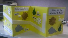 """How to create a tactile weather board. Great way to introduce weather and story telling. Use a velcro ball to encourage """"rolling"""" through the board. Add braille for braille readers! *pinned by WonderBaby.org"""