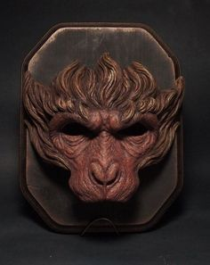 SARU mask painted monkey mask monkey king by SHsculpturestudio:
