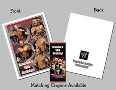 Personalized Coloring Book/Crayons Favor - WWE Wrestling | PartiesRPersonal - Children's on ArtFire