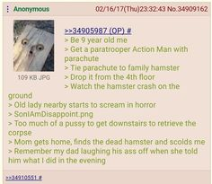 Anon and his hamster.
