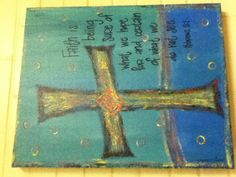 Cross painting with bible verse