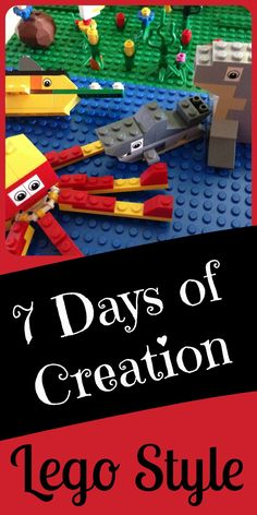 This is fun! Use LEGOs to build the 7 days of creation. I love combining the lego with our faith in fun projects like this!