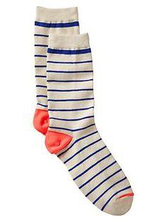 Thin stripe socks