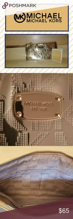 5f5c11e49f23 Spotted while shopping on Poshmark  🌲(NWOT) Michael Kors Metallic Wristlet!
