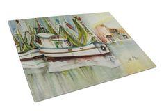 Ocean Springs Shrimper Glass Cutting Board Large JMK1068LCB