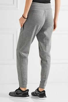 9e5838244ec6 Nike - Tech Fleece Cotton-blend Track Pants - Gray