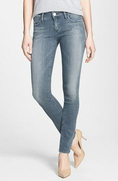 True Religion Brand Jeans 'Jude' Skinny Jeans (Blue Roots) available at #Nordstrom