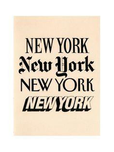 Fonts #newyork