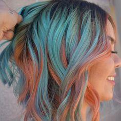 New hair goals color inspiration makeup Ideas Hair Dye Colors, Cool Hair Color, Bright Hair Colors, Colorful Hair, Aqua Hair Color, Edgy Hair Colors, Unique Hair Color, Colours, Coloured Hair
