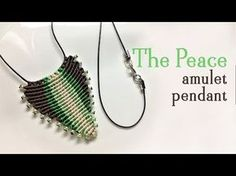 Macrame pendant tutorial: The peace amulet - need the most simple macrame skill - YouTube