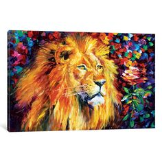 iCanvas 'Lion' by Leonid Afremov Canvas Print