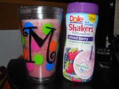 decorated tumbler (with one of my favorite drinks lol)