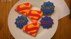 #Superman sugar #cookies   Courtney's Confections   @courtneysconfectionsok