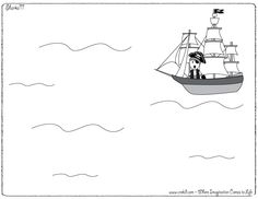 Pirates - drawing - writing - stories - story rocks - kindergarten - first grade - second grade - third grade - writing prompts - sentence starters - story prompts - story map - www.crekid.com Writing Area, Writing Prompts, Story Prompts, Creative Thinking, Creative Kids, Imagination Drawing, Pirate Activities, Pirate Maps, Pirate Adventure