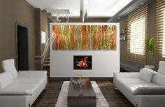 Copper Wall Art | Copper Flowers Metal Wall Art