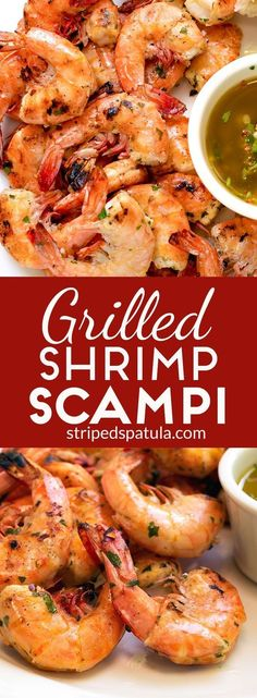 Our favorite shrimp dish done on the grill! Luscious, marinated shrimp with warm, Lemon-Garlic Butter for dipping.