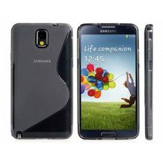 Zwarte S Design TPU rubber case voor Samsung Note 3 - Rocketdeals