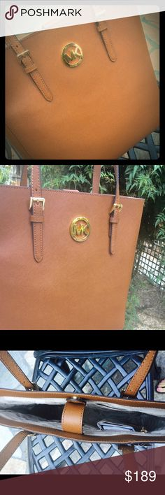 🌻🍂Brand New MK Tote: FALL🍂🌻 Michael KORS Camel Brown Tote Purse! Brand New with tags, gorgeous ☺ Has light gold fixtures,️ Fits your lab top perfect too☺️👍 Michael Kors Bags Totes