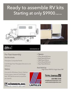 Build your own expedition RV with a truck box kit from this company in Victoria, BC.
