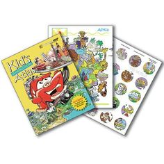 Universal Map Kid's United States and World Sticker Atlas