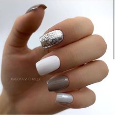 100 Trendy Stunning Manicure Ideas For Short Acrylic Nails Design – Page 83 of 101 - acrylic nails Cute Acrylic Nails, Acrylic Nail Designs, Cute Nails, My Nails, Nail Polish Designs, Stylish Nails, Trendy Nails, Casual Nails, Nagellack Design