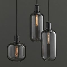 Introducing the gorgeous amp pendants made from smoke glass and black marble, available at the beautiful London boutique Future & Found and on https://popmap.com/page/shop/127/future-found/  #lights #design #popmap