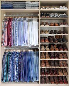 Small walk in closet ideas and organizer design to inspire you. diy walk in closet ideas, walk in closet dimensions, closet organization ideas. Small Closets, Dream Closets, Small Walk In Closet Ideas, Diy Closet Ideas, Diy Ideas, Decor Ideas, Walk In Wardrobe, Wardrobe Design, Small Wardrobe