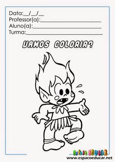 atividade+colorir+turma+da+mônica+folclore+desenho+pintar+www.espacoeducar+(4).jpg (1131×1600)