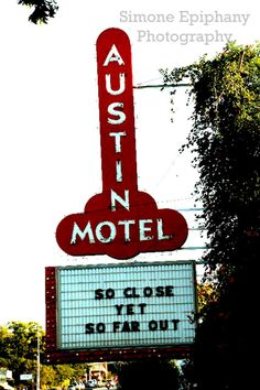 Items similar to Far Out Austin Motel Sign on Etsy Austin Motel, Italy Street, Strong Family, Family Roots, Bourbon Street, Photographs Of People, Epiphany, Taking Pictures, I Fall In Love