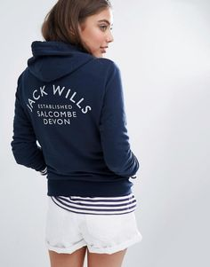 Jack Wills Classic Hoodie With Logo