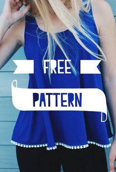 Me & Sew: LOOSE TOP - FREE PATTERN                                                                                                                                                                                 More