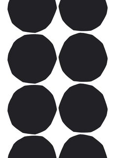 Marimekko Isot Kivet White / Black Cotton Fabric Repeat Maija Isola's 1956 Kivet (Stones) pattern is set in it's classic black and white colorway in an oversize scale on cotton. Marimekko Isot Kivet is just right for a punch of pattern in drapes, custo. Textile Patterns, Textile Design, Fabric Design, Print Patterns, Pattern Design, Textiles, Scarf Patterns, Graphic Patterns, Pattern Art