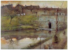 El estanue de watercolor - Carl Larsson 1883