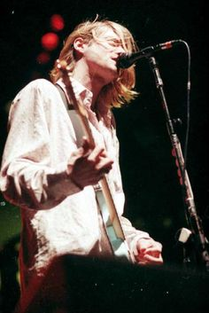 Kurt Cobain is shown during Nirvana's Jan. 1994 show at what was then the Seattle Center Coliseum. Previously unpublished. Nirvana Lyrics, Nirvana Band, Nirvana Kurt Cobain, Soul Music, Music Tv, Music Bands, Musical Hair, Donald Cobain, Sing To Me