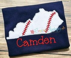 Kentucky Baseball Applique - 4 Sizes! | What's New | Machine Embroidery Designs | SWAKembroidery.com Creative Appliques