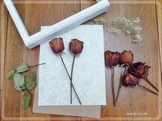 Dried Rose Shadow Box - simple but beautiful way to display dried flowers. Bouquet Shadow Box, Flower Shadow Box, Diy Shadow Box, Pressed Roses, Pressed Flower Art, Flower Picture Frames, Flower Frame, Dried Rose Petals, Dried Flowers