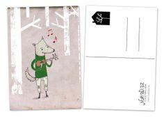 Postal Lobo por NuriaDiazShop en Etsy, €2.00