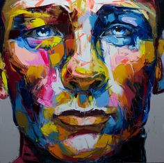 Colorful and Expressive Paintings by Nielly Francoise 얼굴에 대한 또 다른 해석.
