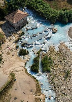 Italy, Termas de Saturnia, spa, bath, swimming, pools, natural, hot springs