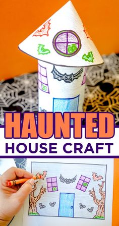 Celebrating the spooky holiday with this super fun Halloween Haunted House Craft. With this free printable template and some imagination, this Halloween craft will make for a super HAPPY Halloween.