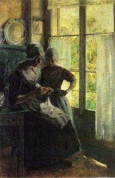Elisabeth Nourse - Sewing Lesson 1895