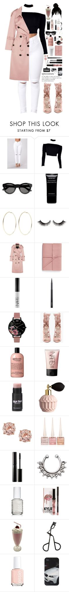 """sprezzatura."" by dyciana ❤ liked on Polyvore featuring Givenchy, Kenneth Jay Lane, Burberry, Bynd Artisan, NARS Cosmetics, MAC Cosmetics, Olivia Burton, ULTA, Christian Louboutin and Surratt"